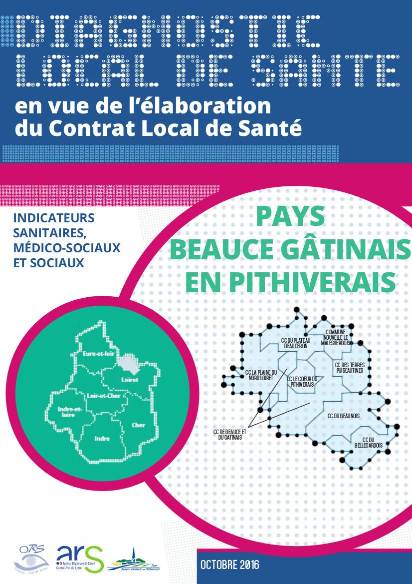 Couverture Diagnostic local de santé Pays Beauce gâtinais en Pithiverais
