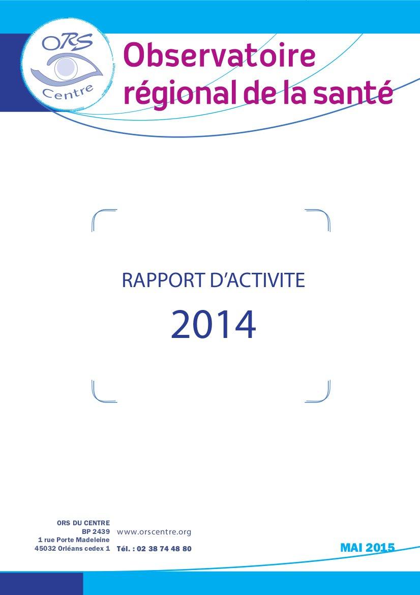 Couverture rapport d'activité 2014