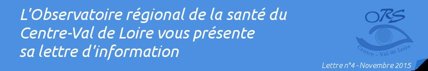 Lettre d'information n°4 - Novembre 2015