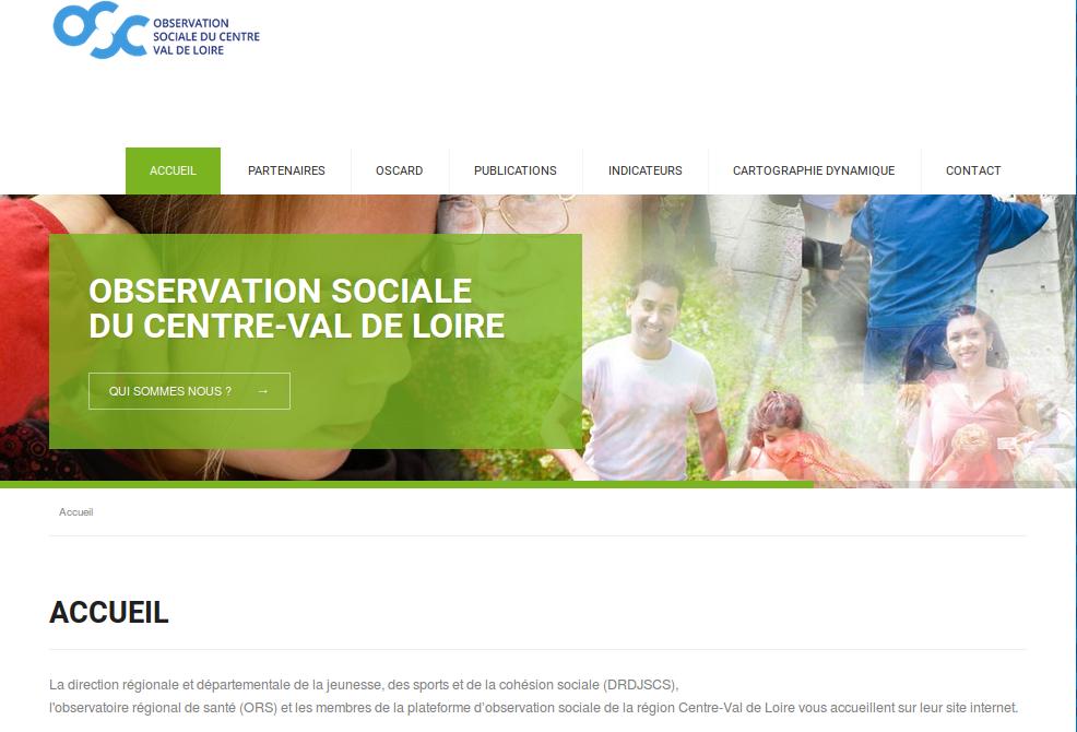 Nouveau site de l'observation sociale du Centre-Val de Loire